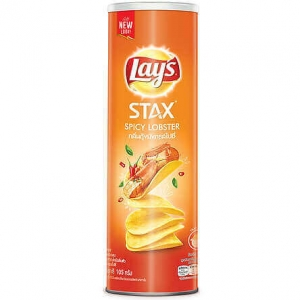 Lay's Stax Spicy Lobster